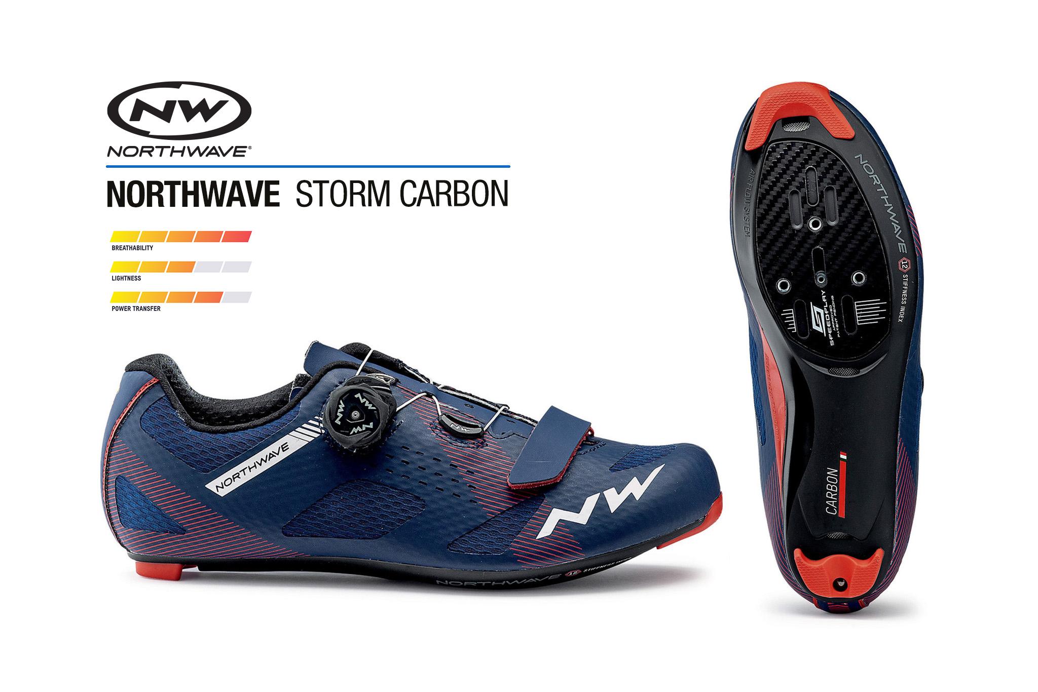 สต๊อคใหม่มาแล้ว.. รองเท้าจักรยานเสือหมอบ NORTHWAVE รุ่น STORM Road shoe carbon