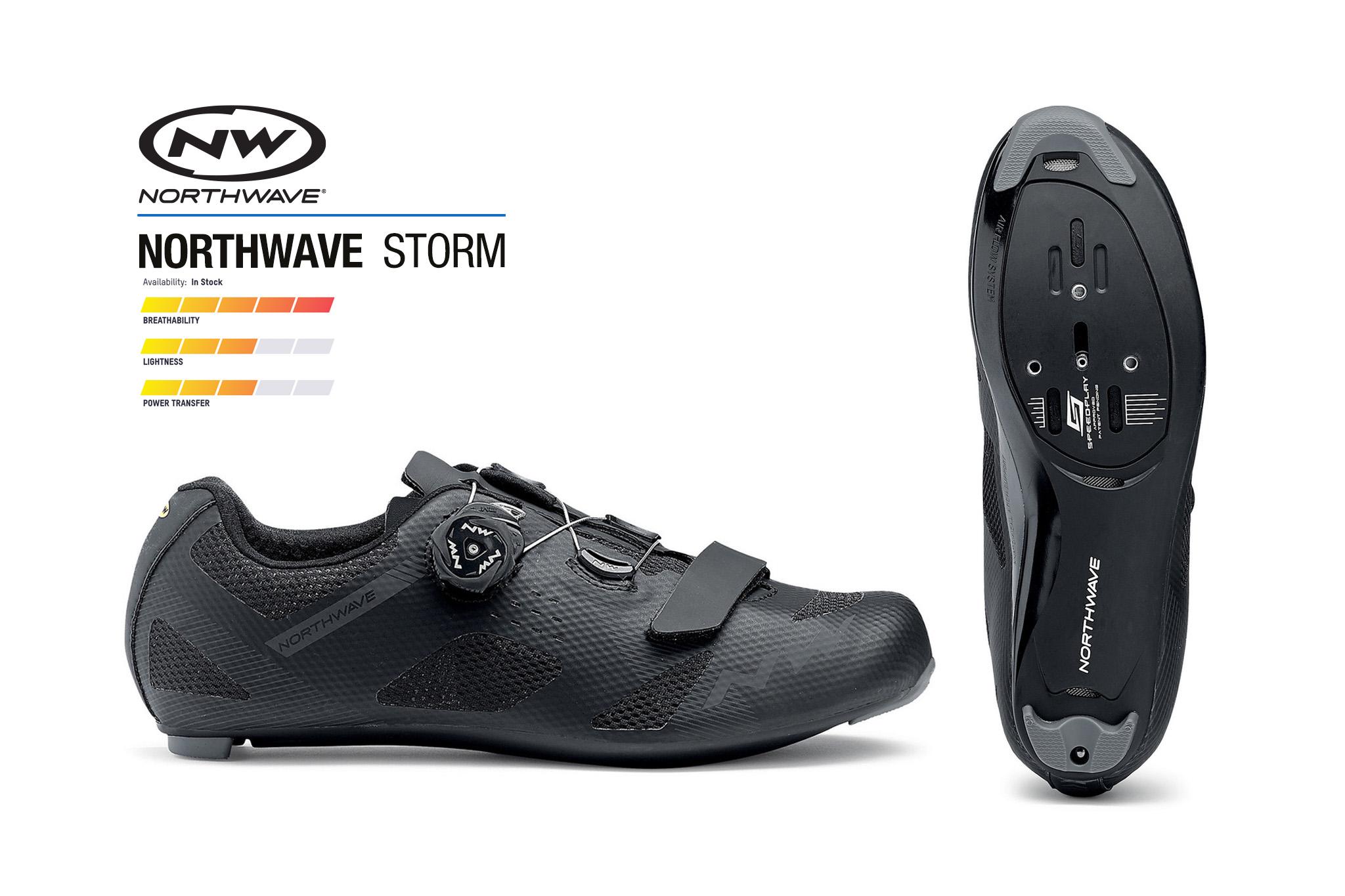 สต๊อคใหม่มาแล้ว.. รองเท้าจักรยานเสือหมอบ NORTHWAVE รุ่น STORM Road shoe