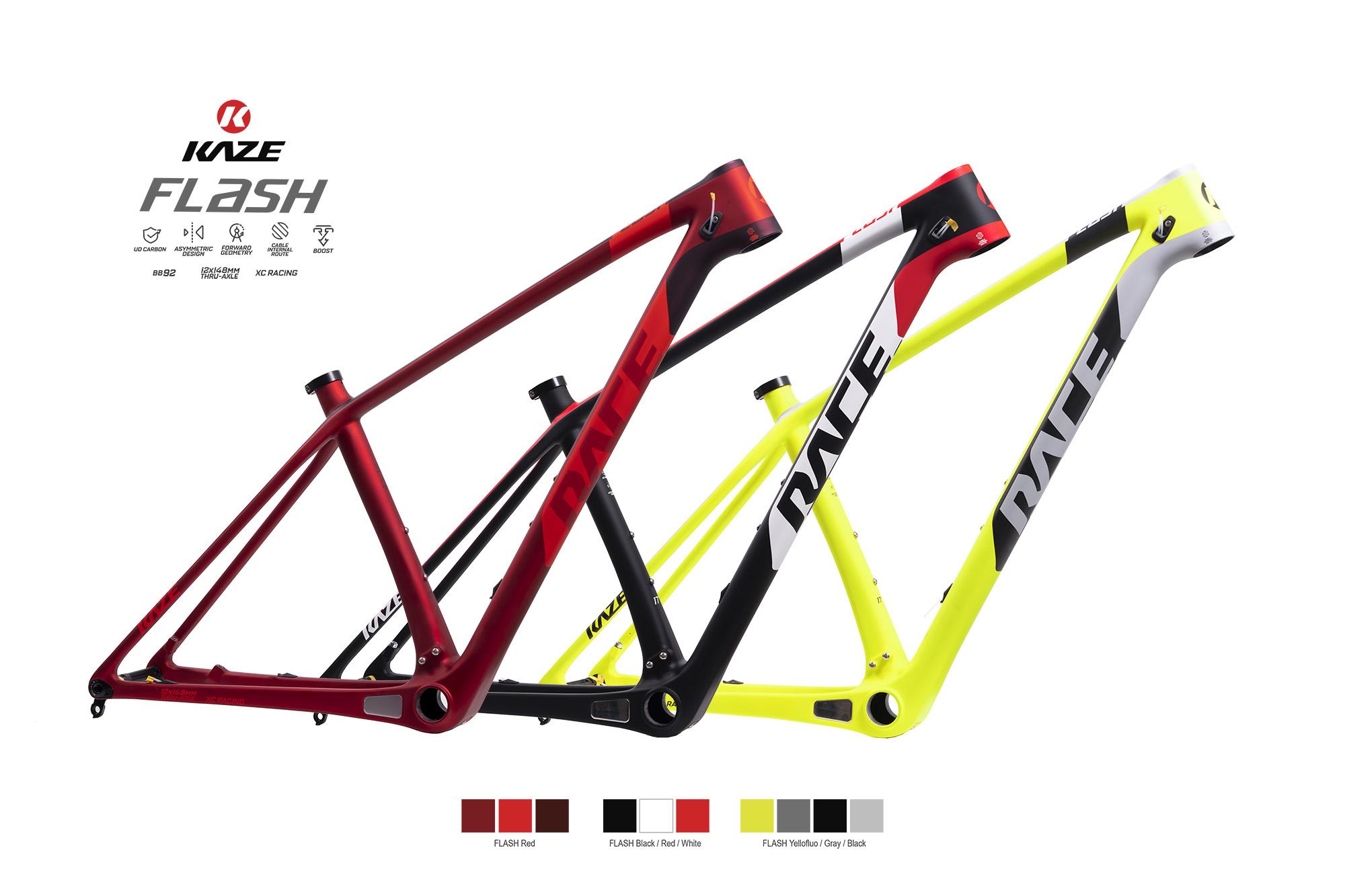 KAZE Bicycle ได้พัฒนาจักรยานเสือภูเขาคาร์บอนรุ่นใหม่..
