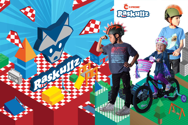 หมวกจักรยานเด็ก RASKULLZ