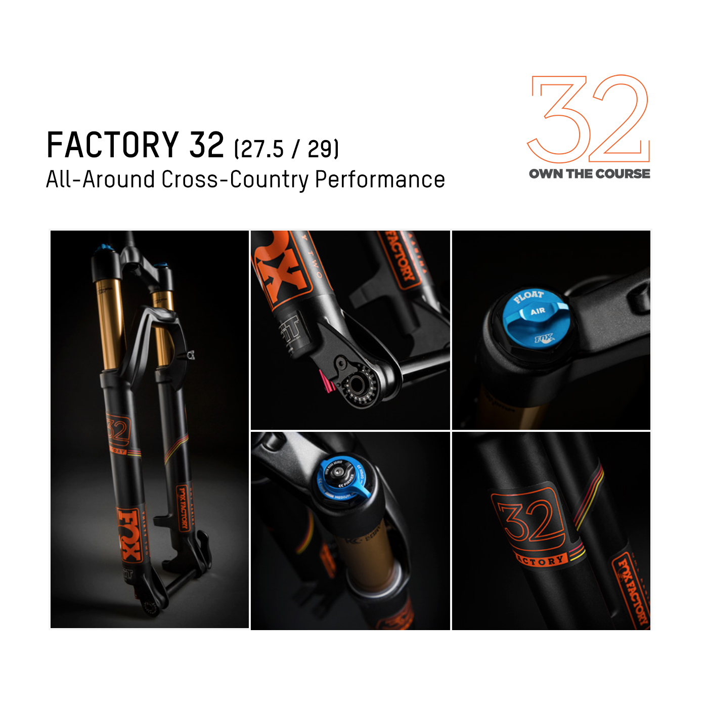 FOX  รุ่น Factory 32 (All-Around Cross-Country Performance)