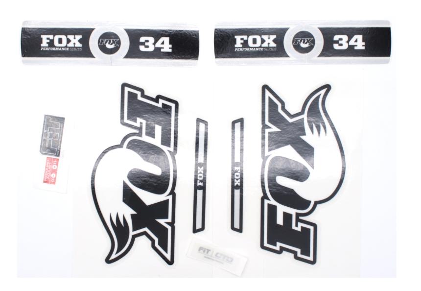 FOX สติ๊กเกอร์โช๊คหน้า Performance แกน 34 สีดำ/ขาว