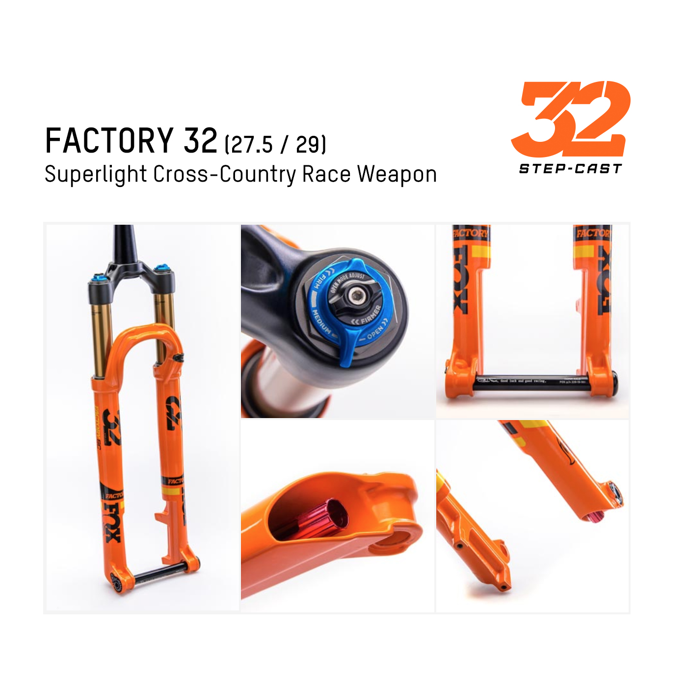 FOX  Factory 32 SC (Superlight Cross-Country Race Weapon)