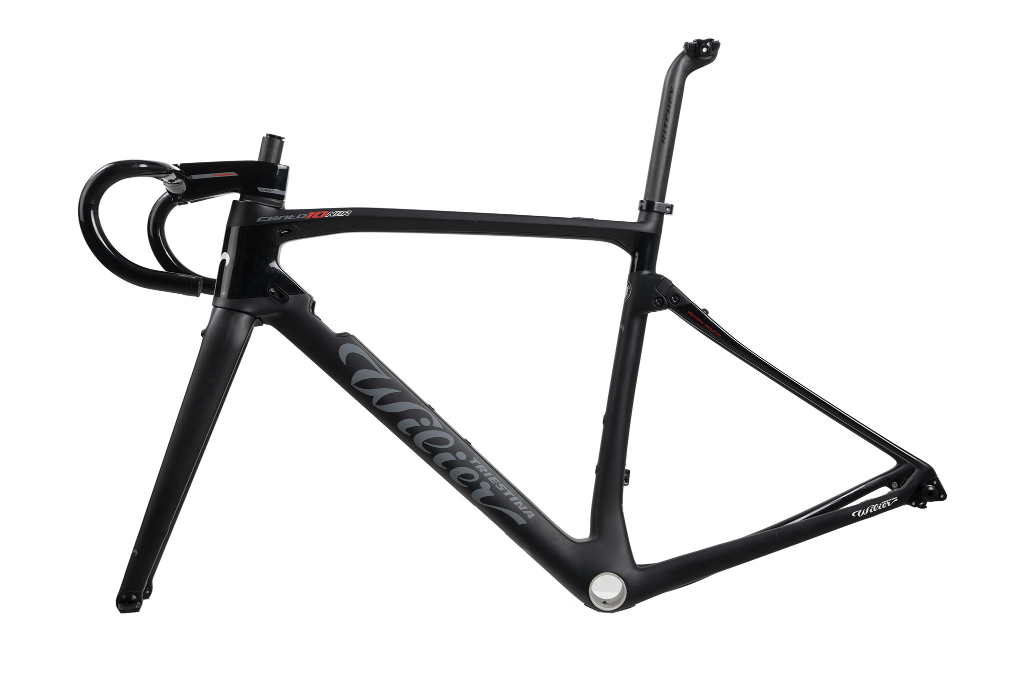 WILIER | CENTO10NDR 2018   Carbon Road Frameset Black/red