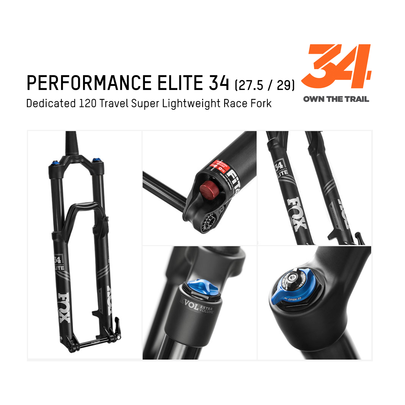 FOX รุ่น Performance Elite 34 (Trail)