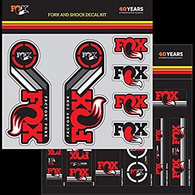 FOX สติ๊กเกอร์โช๊คหน้า+โช๊คหลัง Factory 2015 สีแดง