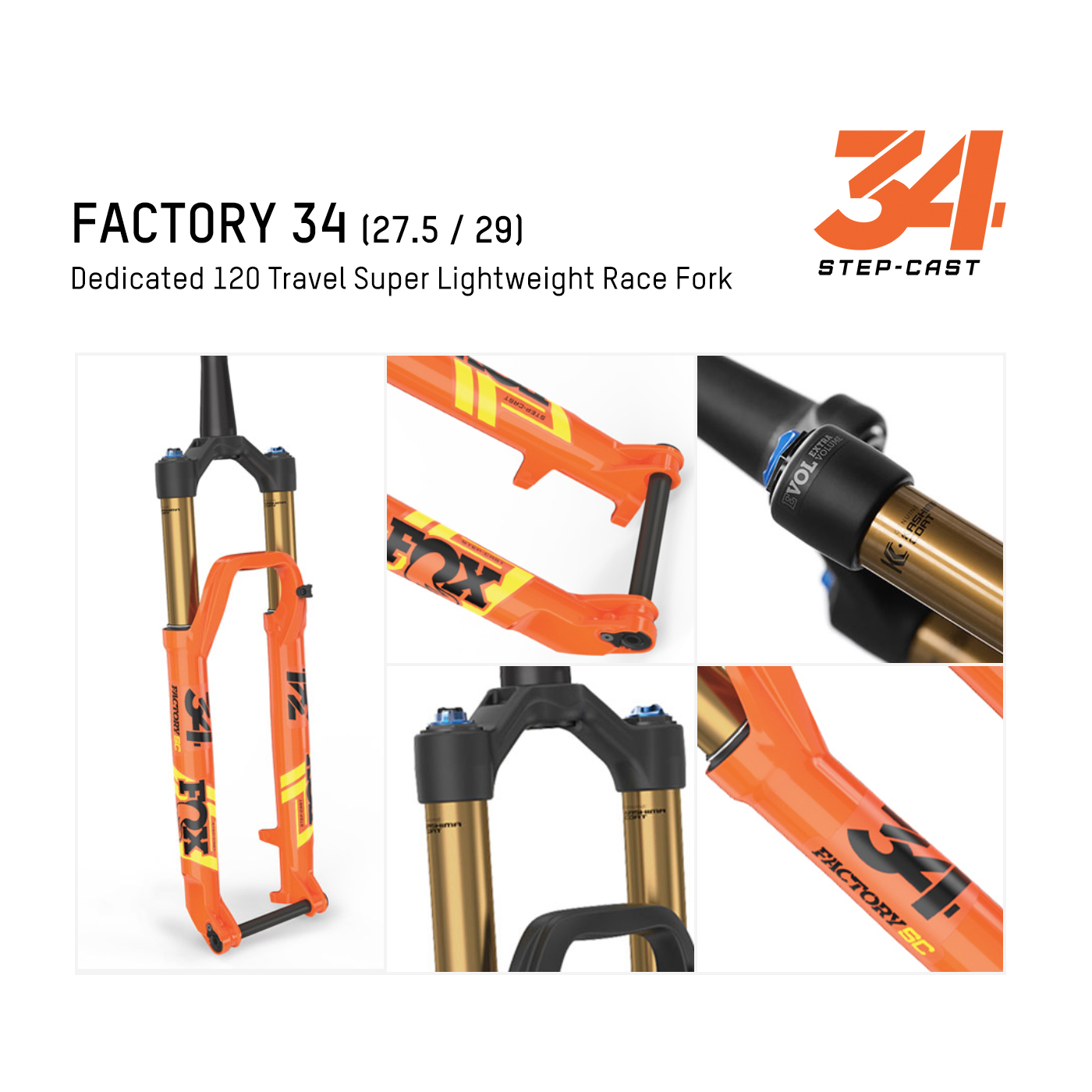 Fox รุ่น Factory 34 SC (Lightweight Trail)