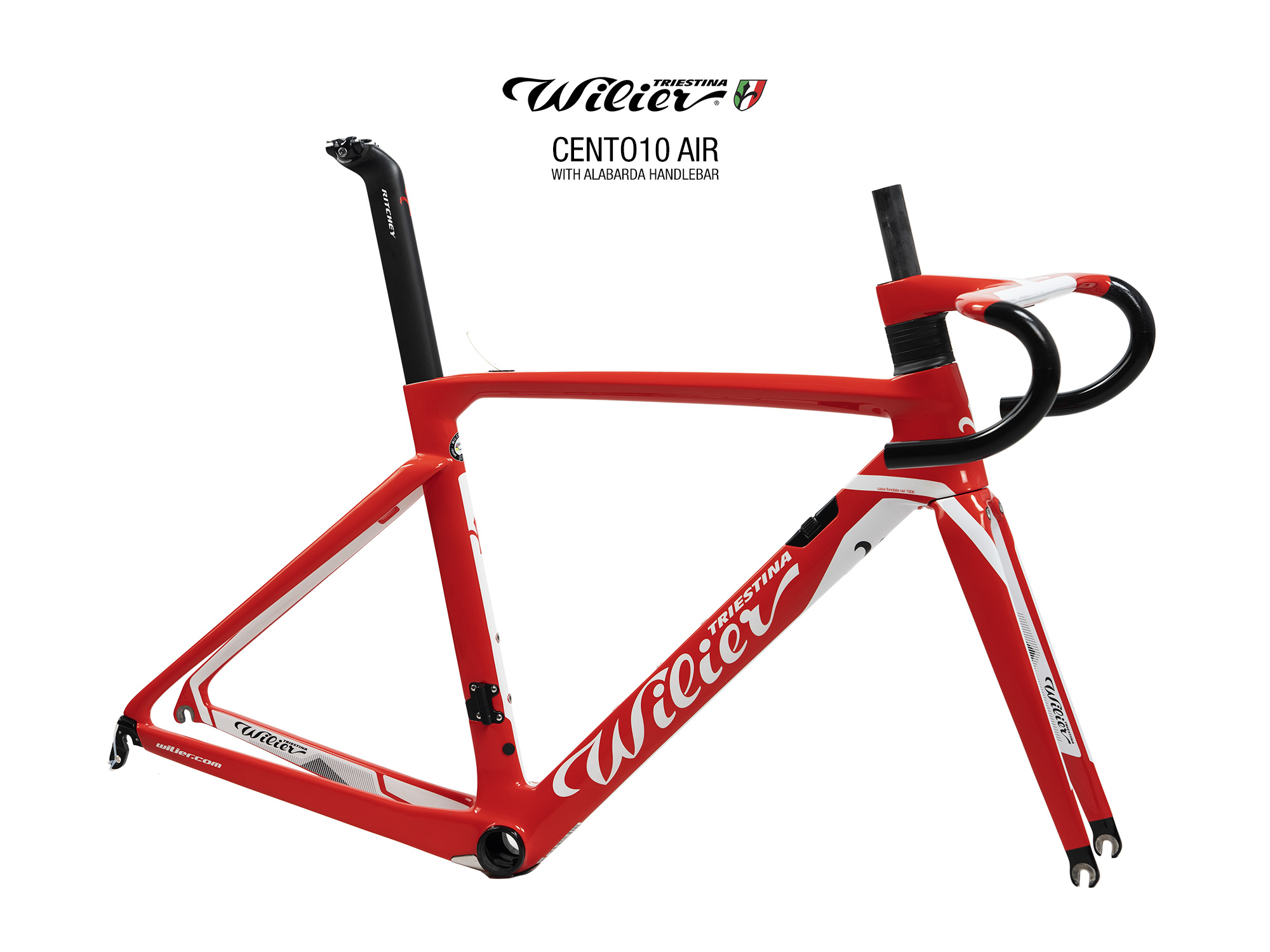 WILIER | CENTO10AIR Carbon Road Frameset Red/white