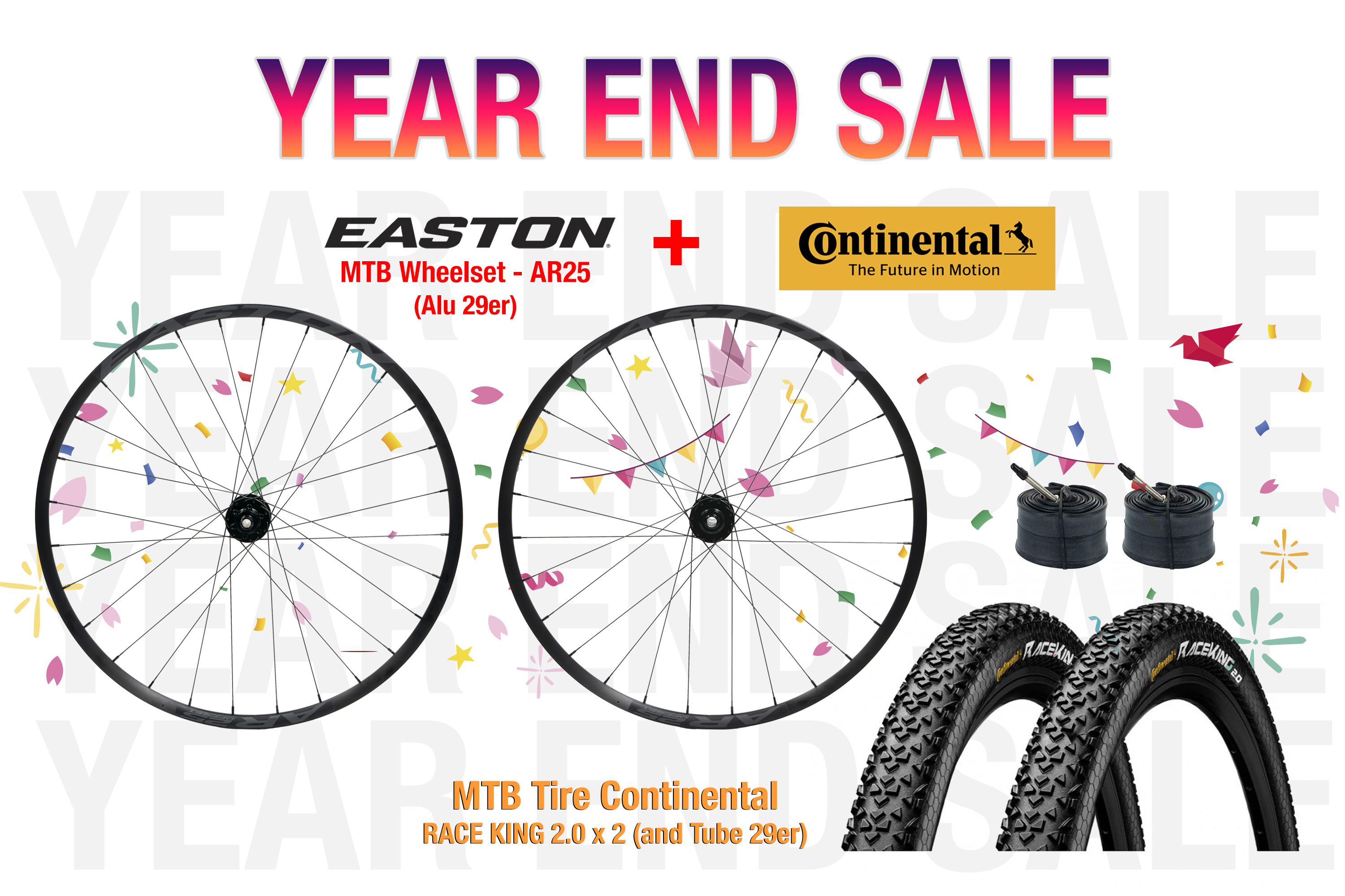 EASTON AR25 (MTB Wheelset Alu 29er) + Continental RACE KING 2.0